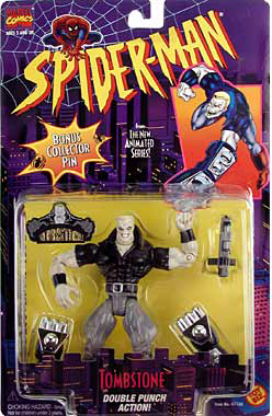 Marvel Comics Spider-Man Animated Tombstone Action Figure with Collector Pin
